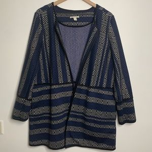 Dana Buchman Open Knit Jacket Coat Cardigan XL
